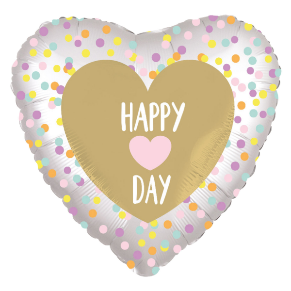 Heart Day Standard Satin Luxe XL Foil Balloon